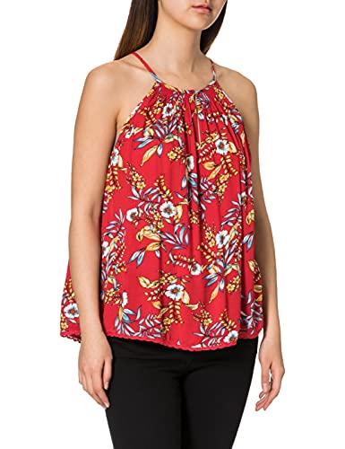 Superdry Beach Top Camiseta Cami, Red Hawaiian, S para Mujer