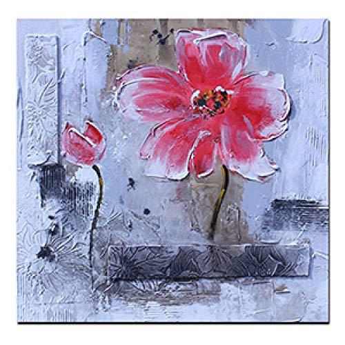 Geiqianjiumai Modern abstract olieverfschilderij pop-art wandschilderij plakaat woonkamer van de rode klaprozen van de print modern