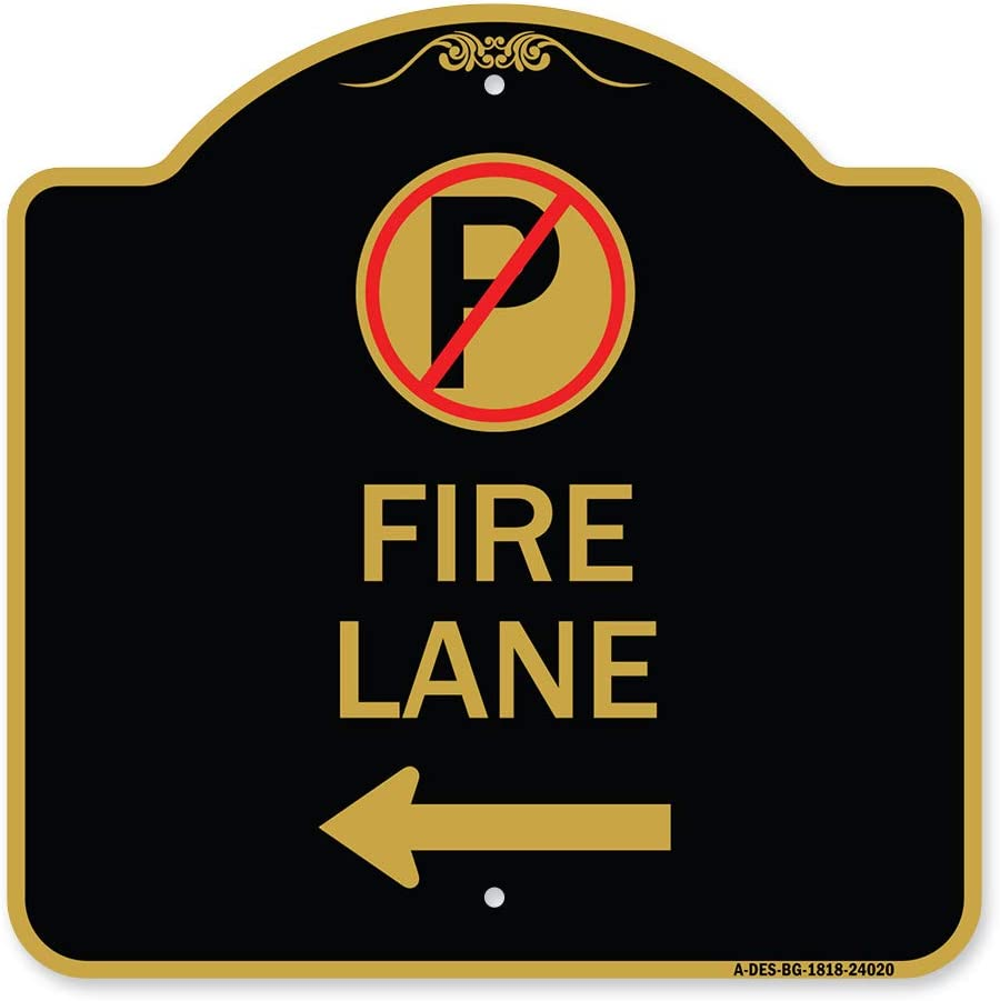 SignMission Designer Series Sign - Lane Parking Fire Symbol No Max 49% OFF safety