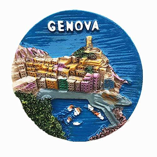 3D Genova Italia souvenir frigo magnete regalo souvenir casa e cucina adesivo magnetico decorazione Genova Italia frigorifero magnete collezione