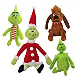 N\A Juguete De Peluche Grinch, Muñeco Monstruo Verde para Niños, Juguetes Navideños, Juego De...