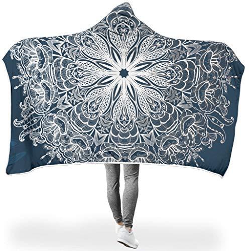 NeiBangM Donkerblauwe vlinder Mandela microvezel fleece sprei in woonkamer