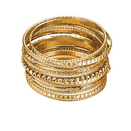 UINGKID Damen-Armband Armreif Europa und Amerika übertrieben vielschichtiger Diamant-Metalldamenschmuck