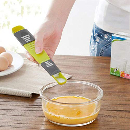 HMX Cantidad Taza de Ajuste a Ocho Doble Velocidad en comparación con un Zoom Cuchara, una Herramienta de metrología Disparar Cuchara de plástico de Cocina