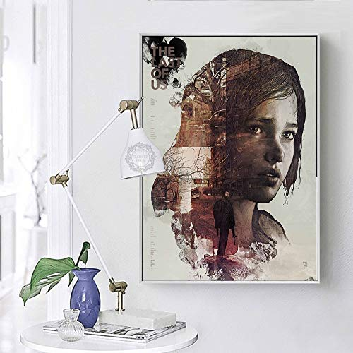 JFHSJ Póster The Last of Us Canvas Wall Poster Print Zombie Survival Horror Action TV Game Pictures - Mejor Regalo Navidad 50 * 75cm