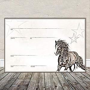 Boxenschild Stallschild Stalltafel Namensschild Pferd 'Tinker' 20x30cm Alu
