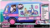 Glamper LOL Surprise 4 en 1 55 Sorprese, 10 zonas de retrovo, azul