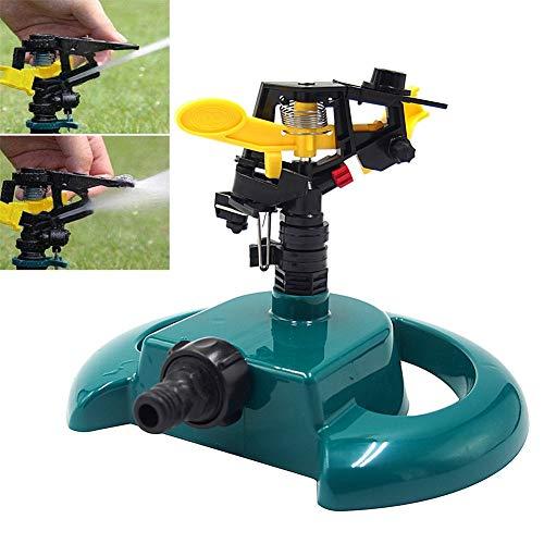 MHGLOVES Irrigatori da Giardino, Pulsating Sprinkler con Base Rotonda, Sprinkler da Giardino Rotazione Automatica A 360 Gradi per Giardino,Fattoria,Campo Vegetale