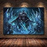 Sin Marco Cuadros 50X60Cm - World Of Warcraft Mapa Cartel Lienzo Pintura Arte De La Pared Etiqueta De La Pared Wow Juego Cartel Mapa Del Mundo Papel Tapiz Decoración De La Sala De Estar,Wkh-774-1