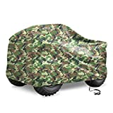 X AUTOHAUX Waterproof All Weather Protector Quad ATV Cover 4 Wheelers Cover Universal Fit Camouflage with Silver Coating Inside XL Size (82.6 x 47.2 x 45.3 Inch)