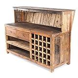 Vintage Design BARSCHRANK PUREWOOD | 150x110cm(BxH) | Shabby Chick Minibar, Bar Theke aus Altholz | Verkaufstresen, Kassentresen, kultiges Dekoobjekt
