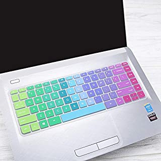 iKammo Keyboard Cover Skin Compatible HP Stream 14-ax HP Pavilion 14-ab 14-ac 14-ad 14-al 14-an,HP Envy 14-j0 Series,14-ab010 14-ab166us 14-ac159nr 14-an010nr 14-an013nr 14-an080nr,Rainbow