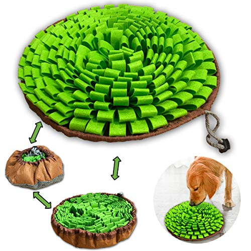NEECONG Dog Snuffle-Mat Slow-Feeder-Bowl - Simulating Grassland for Boredom, Encourages Natural Foraging Skills for Pet, Treat Indoor Outdoor Stress Relief, Portable and Compact
