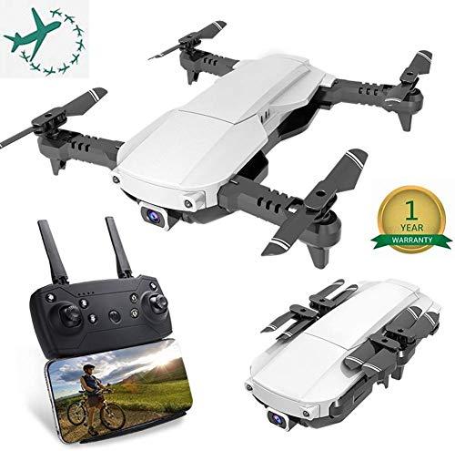 ZGYQGOO Distance contrôle, mosans tête, Maintien l'altitudu Gyroscope GPS à 4 Axes GPS, Longue Distance contrôle, avec Batterie intégrée, hélicoptère, Temps vol 8 Min, Longue Distance, Blanc