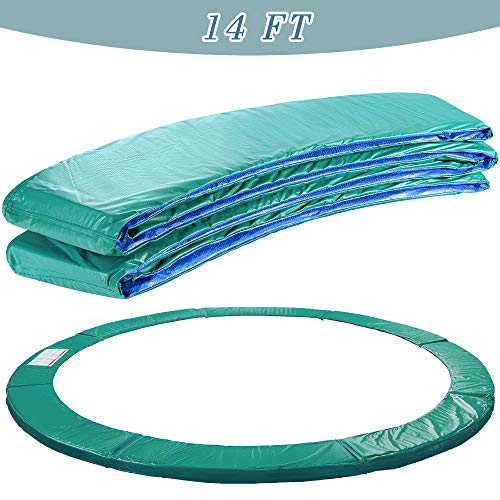Aquariss Trampoline Replacement Safety Spring Cover Padding Green Pad - 14ft