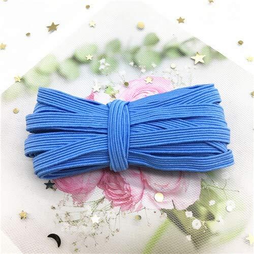 XDYBH 6mm Elastic Band kleurrijke zachte Latex garen elastiekjes Rubber Band DIY Zwangere baby naaien Garment Applique Tassen Accessoires Praktische en handige (Color : 6mmLight blue 5meter)