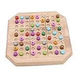 Hengsong Art. Sudoku en Bois - Jeu De Puzzle De Sudoku De Mathématiques en Bois Massif Digital Learning Toys - Toutes Les difficultés: Facile, Moyen, Difficile, Extrême