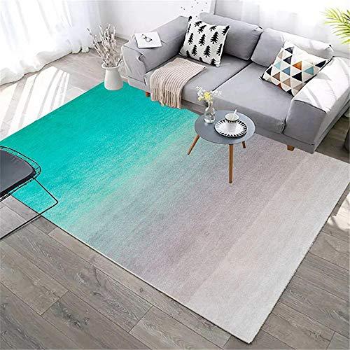 Kunsen decoración de habitación alfombras de plastico Dormitorio Rectangular Alfombra Gris Verde Resistente al Desgaste y práctico Protector Suelo Silla Ruedas 100X160CM 3ft 3.4' X5ft 3'