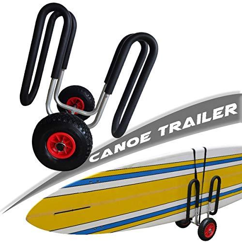 Carro de Kayak, Carro de Transporte de Canoa, Carro de Tabla de Surf de 2 Ruedas, Neumáticos de 10' Playa, Carro de Kayak Universal para John Boat Sup