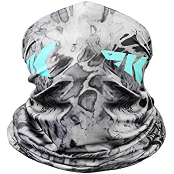 KastKing Sol Armis Neck Gaiter - UPF 50 Face Mask - UV Sun Protection Gaiter Sun Mask for Men & Women Fishing Hiking Kayaking Mask Prym1 Camo RocketPop,19x9.5 Inches,Silver Mist,19x9.5 Inches