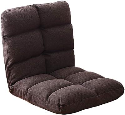 フロアチェア 床の椅子床の椅子のマット調節可能な床の椅子折りたたみ可能なリネン(48 * 13 * 64 cm) 怠惰な椅子 (Color : C)