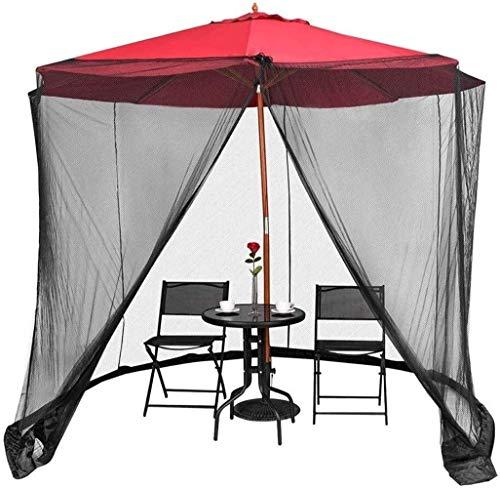 XBR Redes Anti-Mosquitos Paraguas su sombrilla en una glorieta Pantalla de mosquitera Recinto de Malla con Cremallera de poliéster para sombrilla de Mesa de Patio
