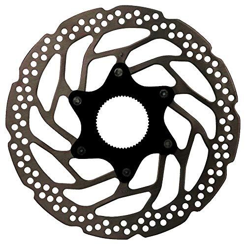 Shimano Unisex– Erwachsene Bremsscheibe-2090322110 Bremsscheibe, schwarz, 180mm