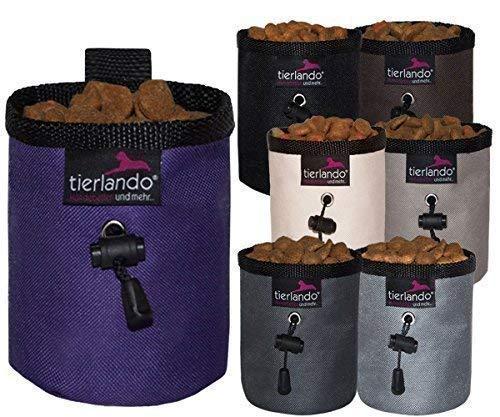 Tierlando® Lio Double-Couche Sac de Friandise Violet Poche Sac à Goûter Leckerli-Beutel Sachet de Nourriture