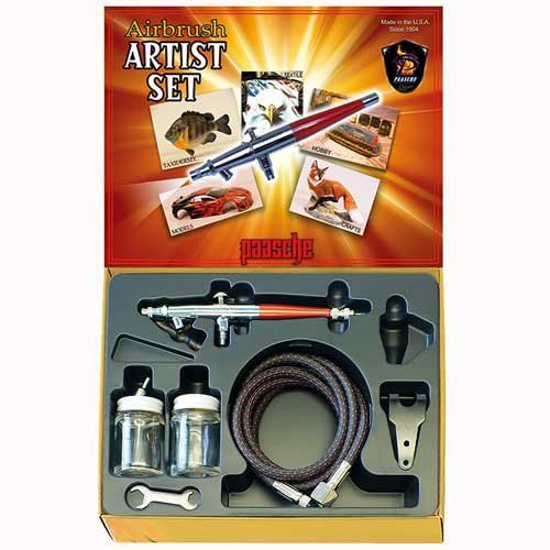 Mehrfarbig Paasche Airbrush Double Action Siphon Airbrush-Set