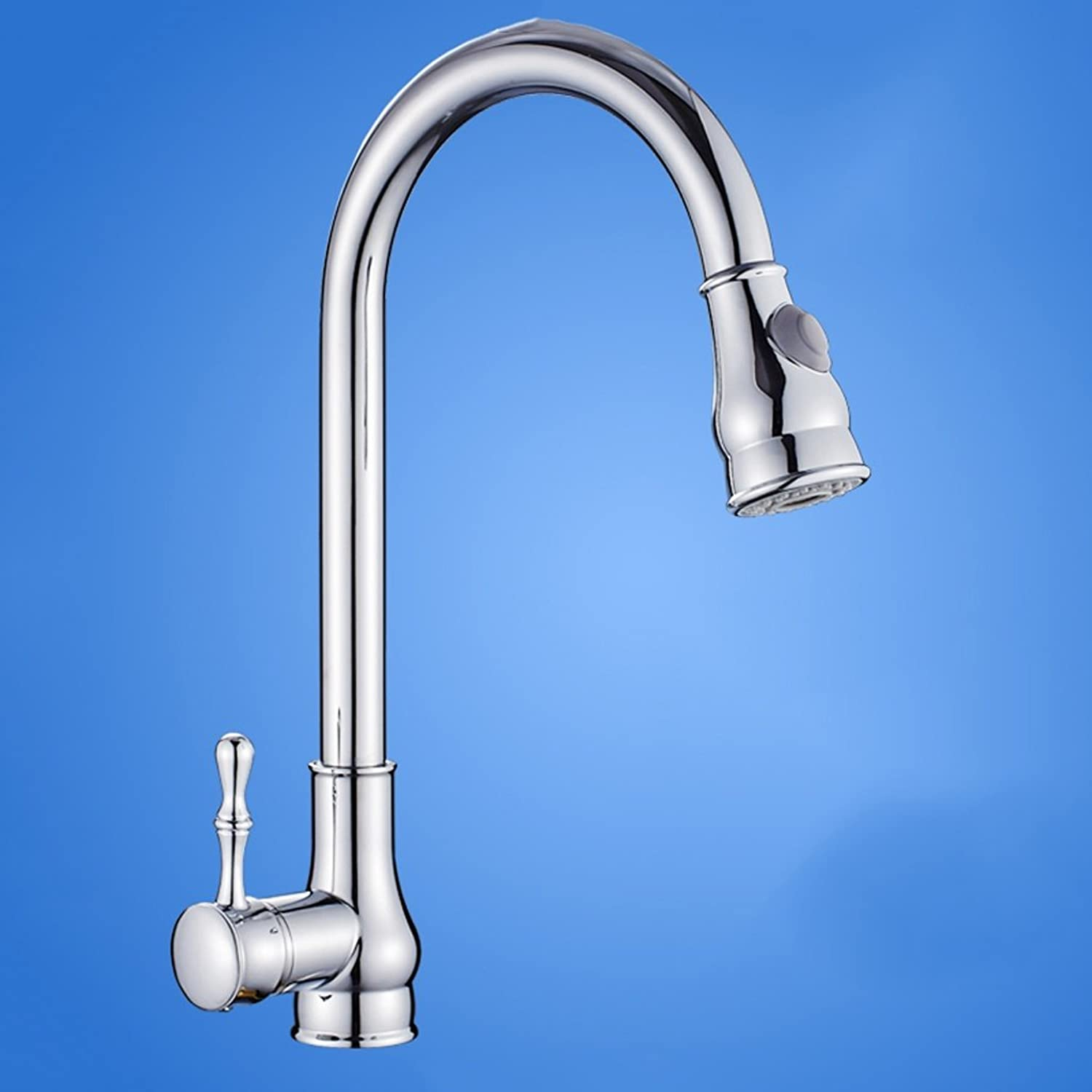 European-style Kitchen Faucet, Pull The Whole Drawing Copper Kitchen Faucet ( color   A )