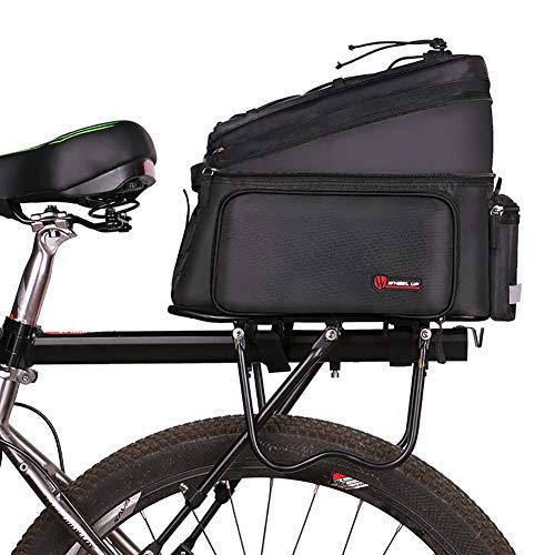 HAOYF Borsa Portapacchi Posteriore per Bicicletta, Borsa per Sedile Portabiciclette Multifunzionale, Borsa da Sella per Bici Bauletto Esterno per Bici da Corsa per Mountain Bike