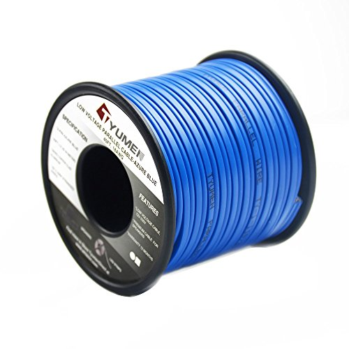 Tyumen 40FT 18 AWG Gauge Hookup Electrical Wire LED Strips Extension Wire, 12V/24V DC Extension Cable Wire Cord for Led Strips Single Color 3528 5050, Blue