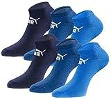 PUMA Sneakersocken 18 Paar Pack Statement Edition - Damen & Herren - Navigate-Peacoat - Gr. 47-49