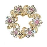 FORSYTHIA Gold tone Pink Crystal Scarf Clip / Brooch