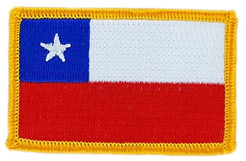 Patch, applicator, geborduurd, Chileense vlag, om op te strijken, voor rugzak