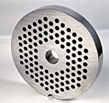 """Smokehouse Chef #22 x 3/16"""" (4.5mm) Typical Hamburger Holes Meat Grinder Plate Disc"""