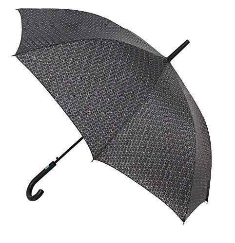 Paraguas Vogue. Paraguas Hombre de Estilo clásico y Atemporal actualizado con Unos Atractivos Estampados. Paraguas automático. Paraguas Resistente al Viento. (Estampado VOGUE 2)
