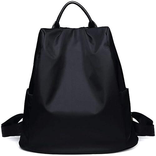 Sac de Voyage pour Femme Wild Anti-Theft Oxford Cloth Waterproof Wear Sac à Dos pour Fille Sac de Voyage pour Alpinisme (Couleur  Noir)