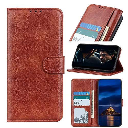 Ufgoszvp Nokia 5.4 Hülle, Handyhülle für Nokia 5.4, Nokia 5.4 Handyhülle Magnetisch Flip Folio Stoßfest Wallet Case für Nokia 5.4 Hüllen mit Ständer Braun