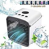 Nifogo 3 EN 1 Mini Climatiseur Humidificateur Purificateur USB Portable Refroidisseur D'air Personnel Puissant pour Bureau Voiture Chambre Couche (Blanc) (Blanc)