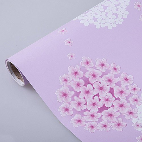 Yifely SimpleLife4U Removable Shelf Liner Self-Adhesive Drawer Covering Furniture Protect Paper 17x118 Inch Pink Jasmine