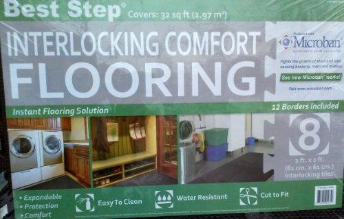 8 Best Step Interlocking Comfort Flooring Floor Mat 24'' x 24'' (Borders Included) Covers 32 sq ft