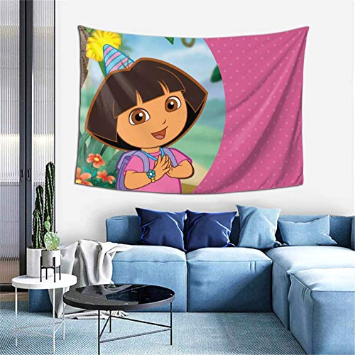 Whsahfasfhiy Dora The Explorer Wall Hanging Tapestries Mounted Home Decor Bedroom Living Room Dormitory Office Party Art Decor Blanket for Home Decoration One Size