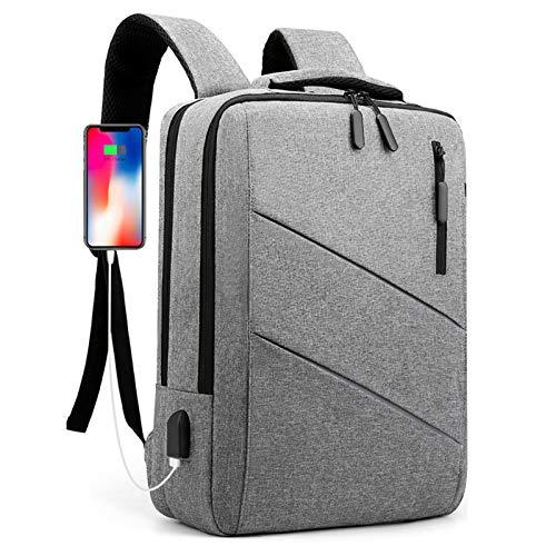 39,6 cm (15,6 Zoll) Laptop-Rucksack mit USB-Ladeanschluss, 3-in-1-Handgepäcktasche für Schulranzen & Computer