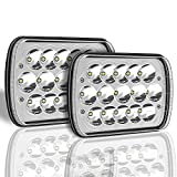 H6054 Led Headlights 7x6 Led Headlights Dot Approved, 2pcs 5' x 7' Led Headlights for Trucks H6054 Rectangle Hi/Lo Headlights Chevy Sealed Beam H4 9003 Plug 6054 H5054 for Jeep Wrangler