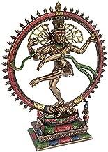 Design Toscano Dancing Shiva God of Cosmic Energy Indian Hindu Statue, Desktop, 10 Inch, Polyresin, Bronze Finish
