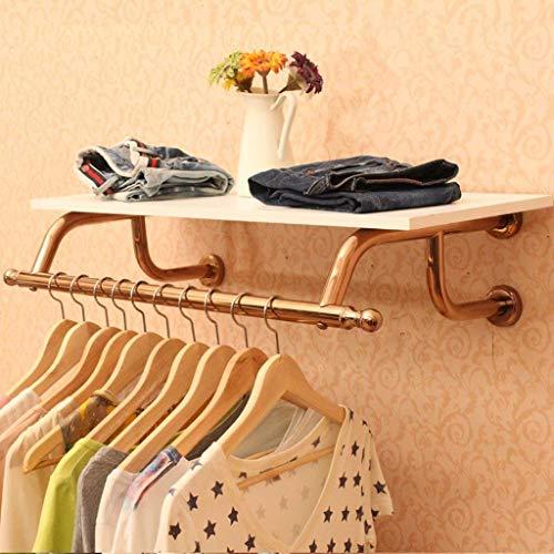 ZHOUMEI massief roestvrij stalen kast met retro haken, kapstok voor woon/slaapkamer/kantoor/garderobe (80CM, 100CM, 120CM) (Maat: 100CM)