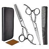 Haarschere Set, Haare Schneiden, Schere Haare Schneiden, 2 Professionelle Friseurscheren, Geeignet für Damen- und Herrenhaarschnitte, Haustier- und Bartscheren