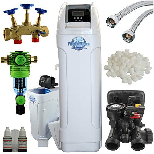 """MKC 80 Top Line Wasserenthärtungsanlage mit 1\""""1m Anschlussschläuchen, Montageblock, Rückspülfilter und 100 kg Regeneriersalz"""