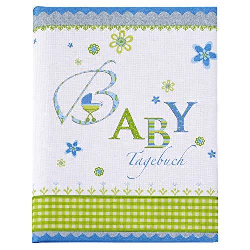 goldbuch Babytagebuch, Lovely, 21 x 28 cm, 44 illustrierte Seiten, Leinen bedruckt, Blau, 11086